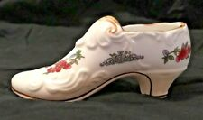 "PARAGON England White Bone China Small Shoe ""Tree of Kashmir""-Gold Trim-EUC"