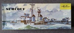 Vintage 1968 Heller 1/400 French Destroyer SURCOUF Model Kit L540 Parts Sealed