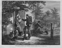 THE HALT BY THOMAS NAST CIVIL WAR GEORGIA CAMPAIGN SOLDIER FARMERS WIFE KIDS