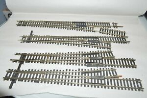 HO scale track Atlas Nickel Silver code 100 switch turnout #6 lot set of 4 RH LH