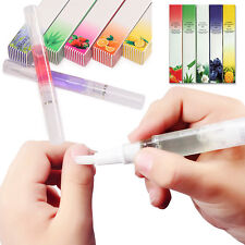 12Pc Mix Taste Cuticle Revitalizer Oil Pen Nail Art Care Treatment Manicure Set^