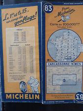 carte michelin 83 1945 carcassonne nimes