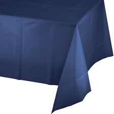 "54"" x 108"" Navy Blue Wedding Birthday Party Tableware Plastic Table Cover"