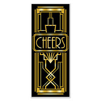 Party Supplies Birthday Gatsby 1920's Hollywood Cheers Door cover