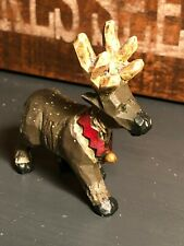 Midwest Cannon Falls Pam Schifferl Folk Art Reindeer Figurine Antlers Village Ps