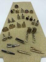 Vintage Lot Cufflink Tie Tac & Clip Pin