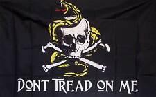 Gadsden Don't Tread On Me Pirate Theme Flag 3' x 5' Gun Right Tea Party Banner
