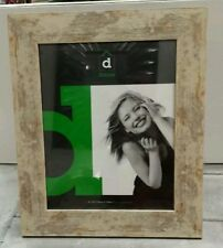 Rustic timber gold silver wash wooden photo picture frame 8x10