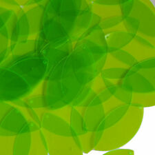 Lime Green Transparent Navette Leaf Sequins 1.5 inch See-Thru Couture Paillettes