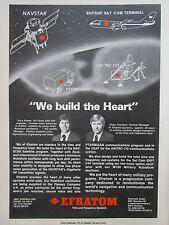 3/1980 PUB EFRATOM NAVSTAR SATCOM AN/TRC-170 LAUFFER FREUHAUF ORIGINAL AD