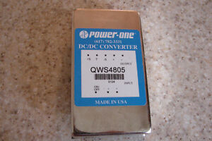 Power-one DC/DC Converter, model #QWS4805 Output 5vdc, .5A