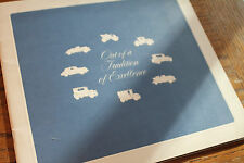 """1972 Cadillac sales brochure, """"Out of a tradition of excellence""""  wonderful item"""