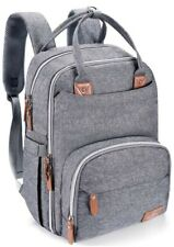 Large Capacity Diaper Bag Backpack, BabbleRoo Travel Backpack for Mom and Dad