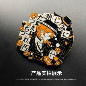 Anime Bungo Stray Dogs Osamu Dazai Nakahara Chuuya Metal Pin Brooch Badge Gift N