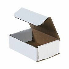 50- 6x4x1 White Corrugated Carton Cardboard Packaging Shipping Mailing Box Boxes