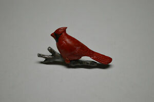 Vintage Hand Carved & Painted Cardinal Pin Cook Originals 1994