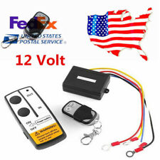 US 12V Truck Car ATV Winch Wireless Control Kit With 2pcs Key Remote Control