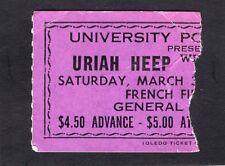 Original early 1970's Uriah Heep Concert Ticket Stub Easy Livin