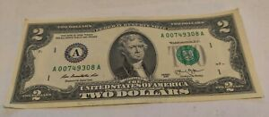 2013 007 James Bond $2 Dollar Bill Note Nice Condition