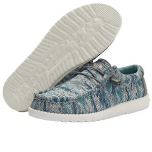 Hey Dude Wally Sox Polar Camo Mens Shoes Comfortable Lightweight SlipOn Casual