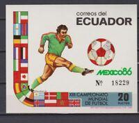 S6004) Ecuador 1986 MNH World Cup Football '86 - S/S