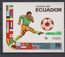 s6004) ECUADOR 1986 MNH** World Cup Football'86 - S/S