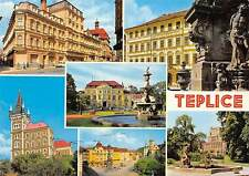 Czech R. Teplice Multiviews, Fountain, Hotel Thermia, Motorcycle, car