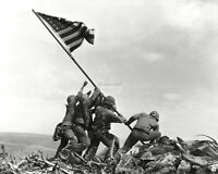 U.S. MARINES RAISING THE FLAG AT IWO JIMA ICONIC - 8X10 HISTORIC PHOTO (AZ089)