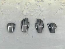 1/6 scale toy Handywoman Female Black Gloved Hands x4