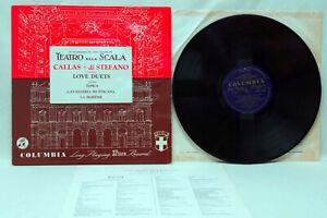 MARIA CALLAS DI STEFANO Love Duets Vinyl LP Columbia 33CX 1725 1st Ed Blue/Gold
