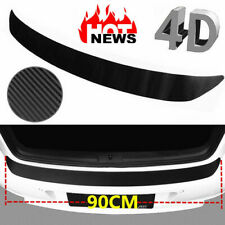 Car Bumper Sill Protector Plate 4D Carbon Fiber Cover Guard Pad Back Door Trim (Fits: Daewoo)