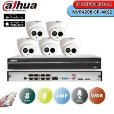 Dahua 8CH NVR4208-8P-4KS2 4MP IPC-HDW4433C-A CCTV Security Camera System