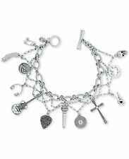 NWOT Lucky Brand Silver-Tone Rock 'n' Roll Multi-Charm Layer Bracelet