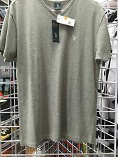 NEW MENS U.S. POLO ASSN V NECK TEE SHIRT  SMALL GREY T SHIRT
