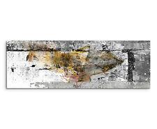 150x50cm Panorama Immagine Paul Sinus Art Astratto Grigio Giallo Nero Bianco Soggiorno