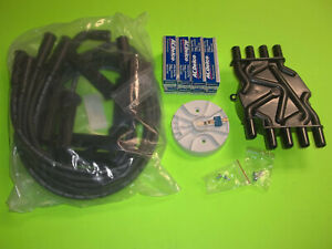 TUNE UP KIT VOLVO PENTA 5.0 5.7 GI GXI OSI  SPARK PLUGS, WIRES, CAP AND ROTOR