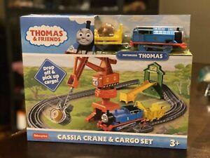 New MOTORIZED Thomas & Friends Cassia Crane & Cargo Train Set  Free Ship !