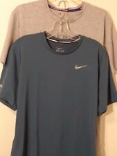 Men's NIKE UNDER ARMOUR S/S ATHLETIC SHIRT Sz Large LOT OF 2