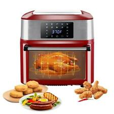 Zokop 1800W Electric 16L Air Fryer Xl Oven Roast Dehydrator Grill Rotisserie Red