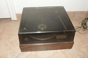 Vintage Garrard Model 70 Turntable w/Shure M93E Cartridge, Cover Parts/Repair