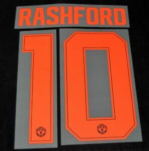 Manchester United 2019/20 Champions league/FA Cup Name/Number Rashford 10 T