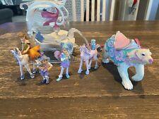 New ListingSchleich Ice Sleigh & Elc Winter Wonderland Figures polar bear, elves fairies