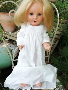 Vintage Frank Popper 60cm Girl Doll Open Mouth Closing Eyes C1940's