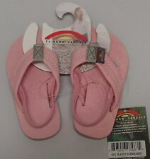 RAINBOW SANDALS Kids Premier Leather Sandals - Pink/Grey - Girl's Size 3/4 NWT