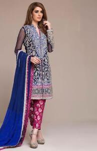 Indian anarkali salwar kameez suit designer pakistani bollywood ethnic new 2...