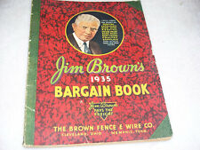 1935 Jim Brown's Bargain Book Farm Catalog Gas Engines Pumps Fence Lawn Mowers