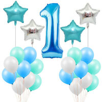 Boy Girl First 1st Birthday Number 1 Baby Balloons Party Celebration Decoration