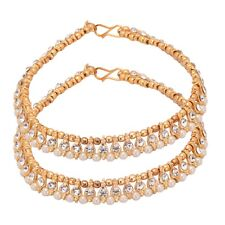 Bollywood Bracelete Payal Women Jewelry Indian Anklet Gold Plated Cz Stone