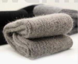 2/10 Pairs Luxury 100% Angora Cashmere Wool Thick Mens Socks Many Colors Gift