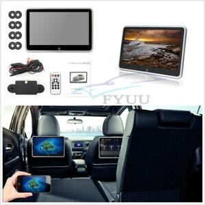 "Car SUV 10.1"" LCD HD 1080P Ultra-thin Headrest Monitor MP5 Player Mirror Link FM"